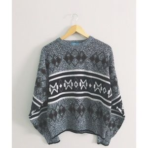 Vintage Knit 1980s Sweater